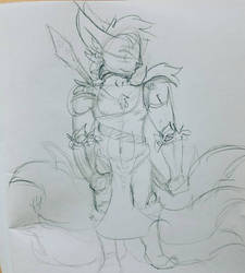 Kitsune King by TatterTotMinion