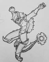 Sprocket the Cyborg by TatterTotMinion