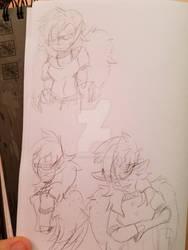 Akita doodles