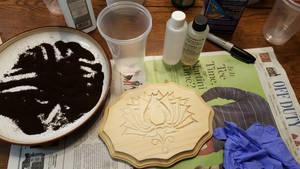 Adding resin