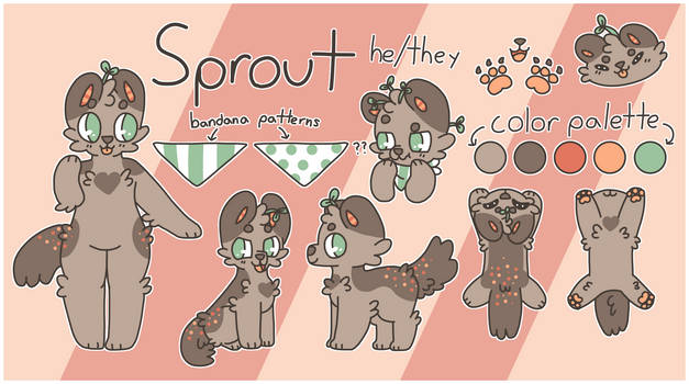Sprout Secondary Fursona Reference