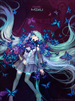 Miku and butterfly's grave