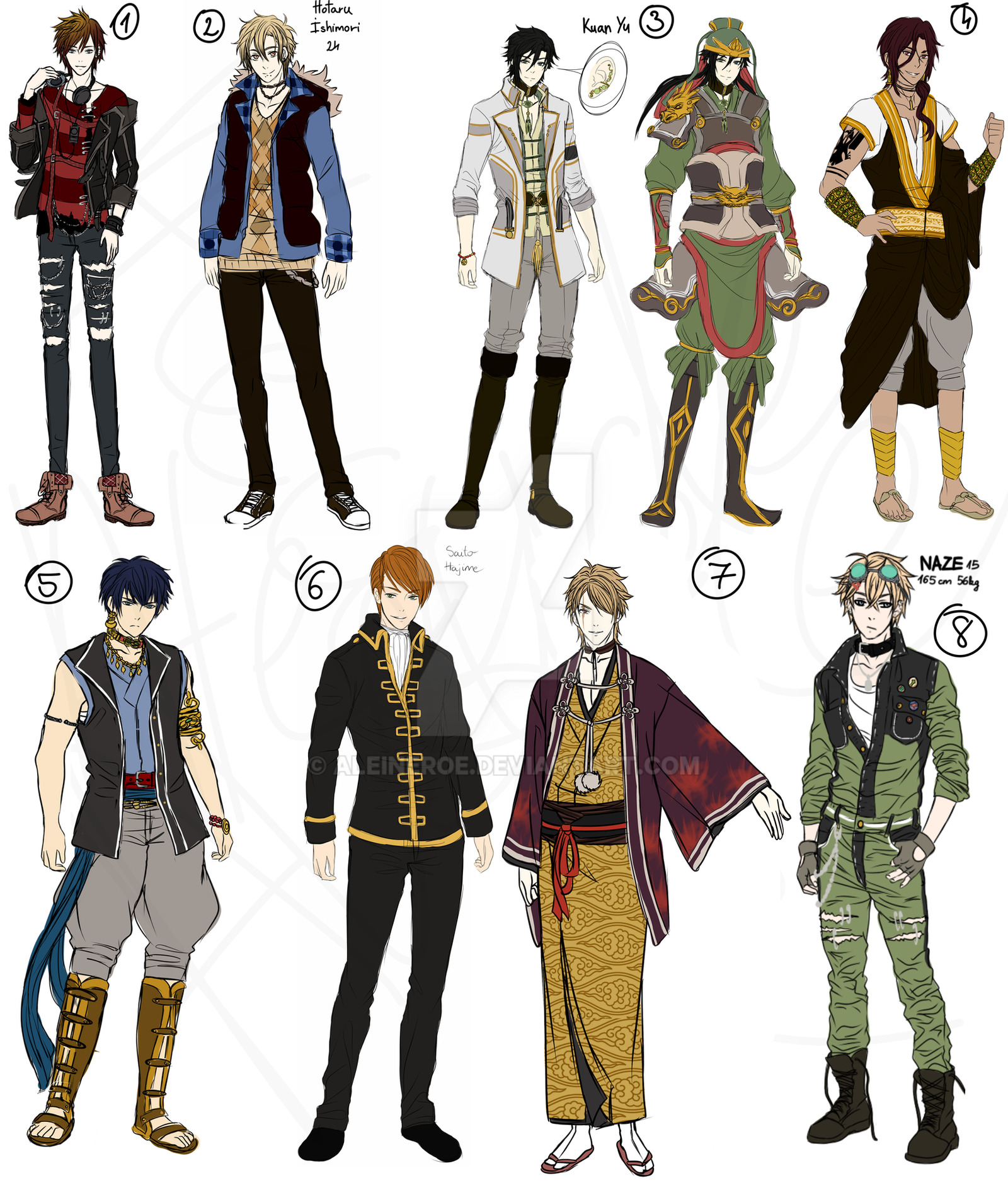 Character Design Ref Sheet : Character sheet reference by aleineroe on deviantart