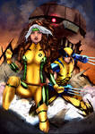 Rogue and Wolverine (Leo Matos) - COLOURS