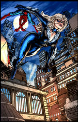 Black Cat and Spiderman (Finch by Ambra) COLOURS