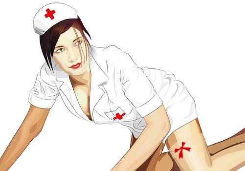 ooooh nurse - vector