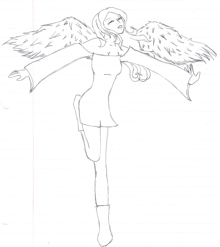 Line Drawing Angel : Angel line art by anime rulezzz on deviantart