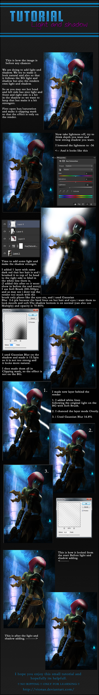 Light and Shadow Tutorial by Vionas