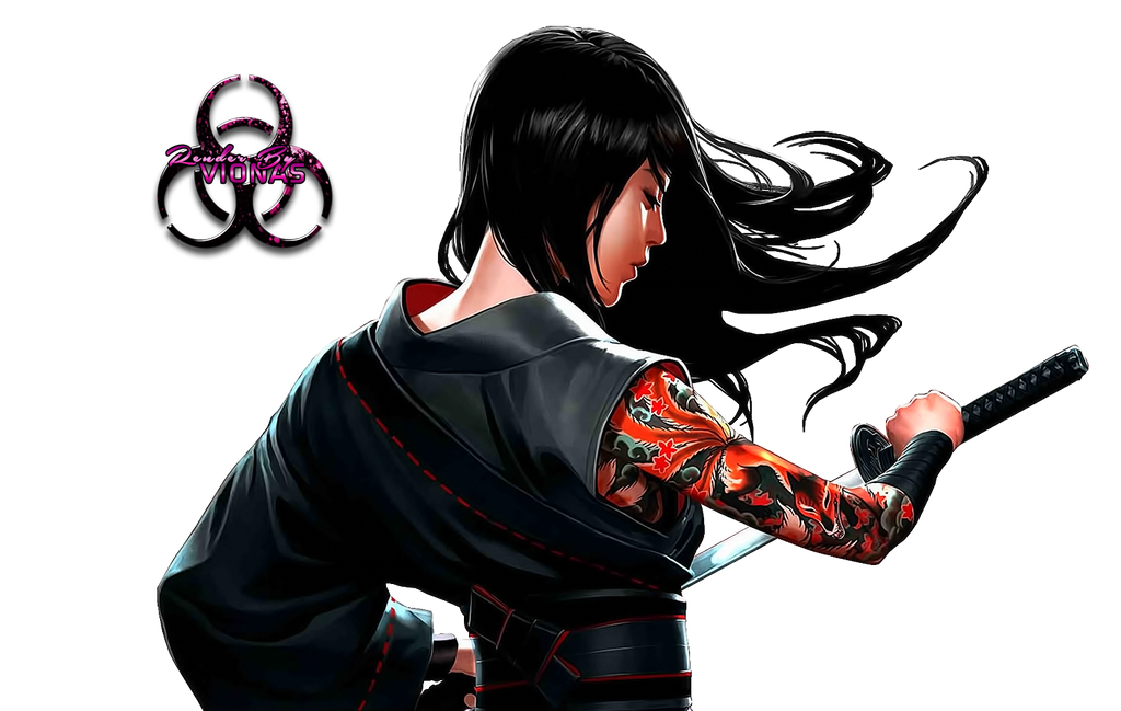 [Aventura]: Os Escolhidos - Página 18 Samurai_woman_by_vionas-d94ai68
