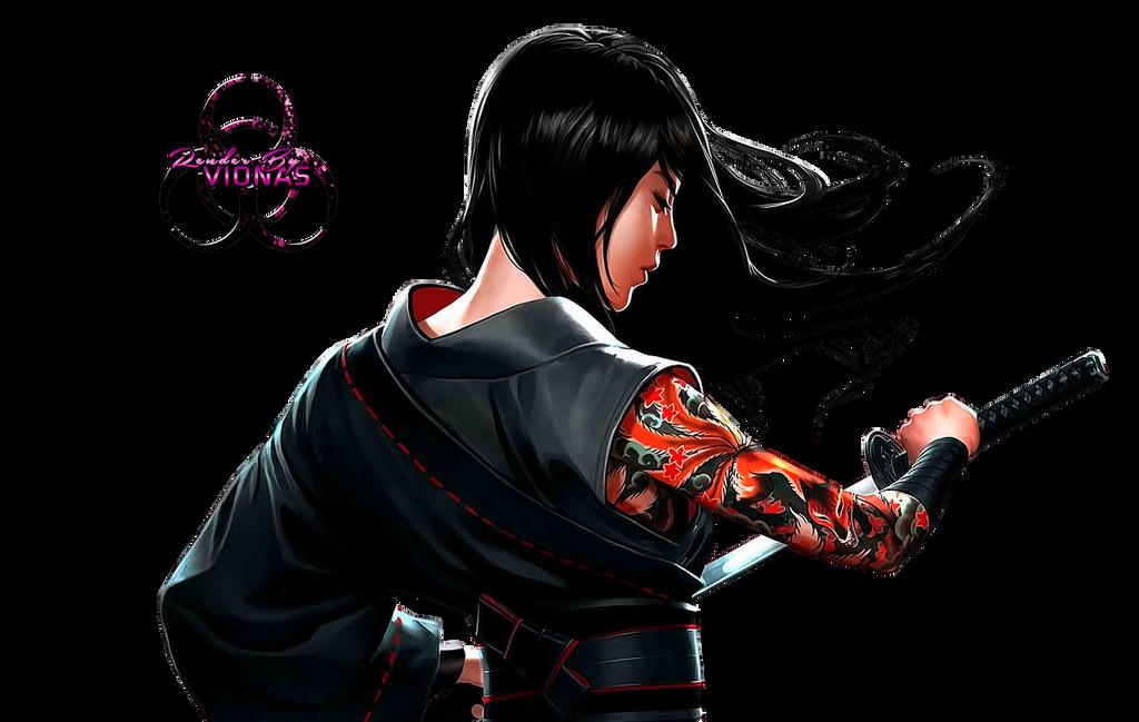 Samurai-Woman by Vionas on DeviantArt