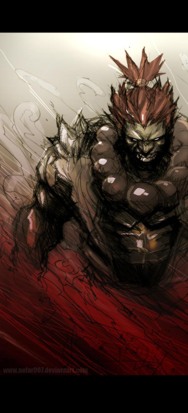 evil akuma by nefar007