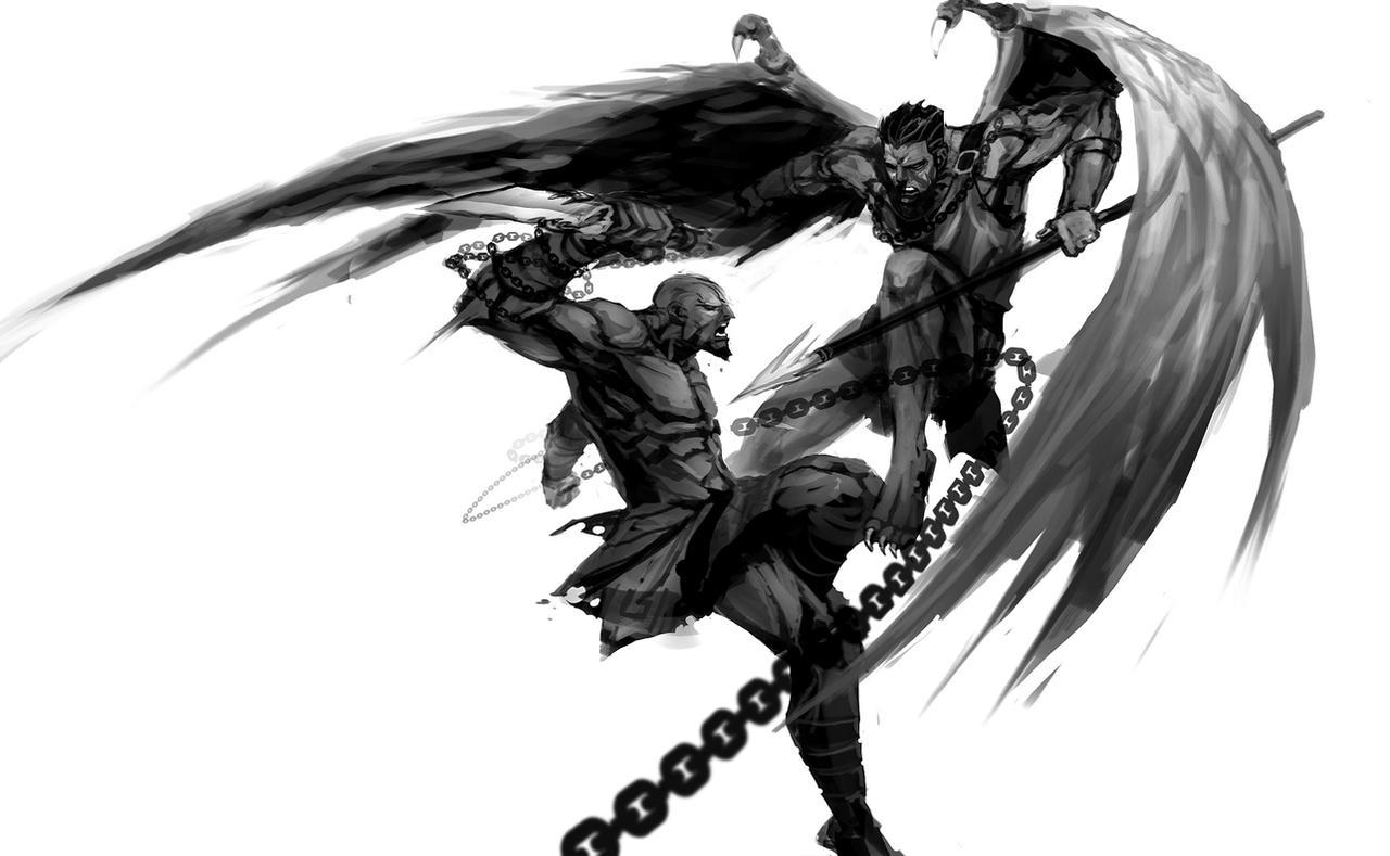 Kratos VS Adrastos by nefar007