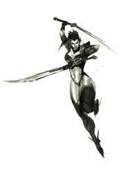 commission BladeDancer by nefar007