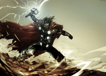 lightning god by nefar007