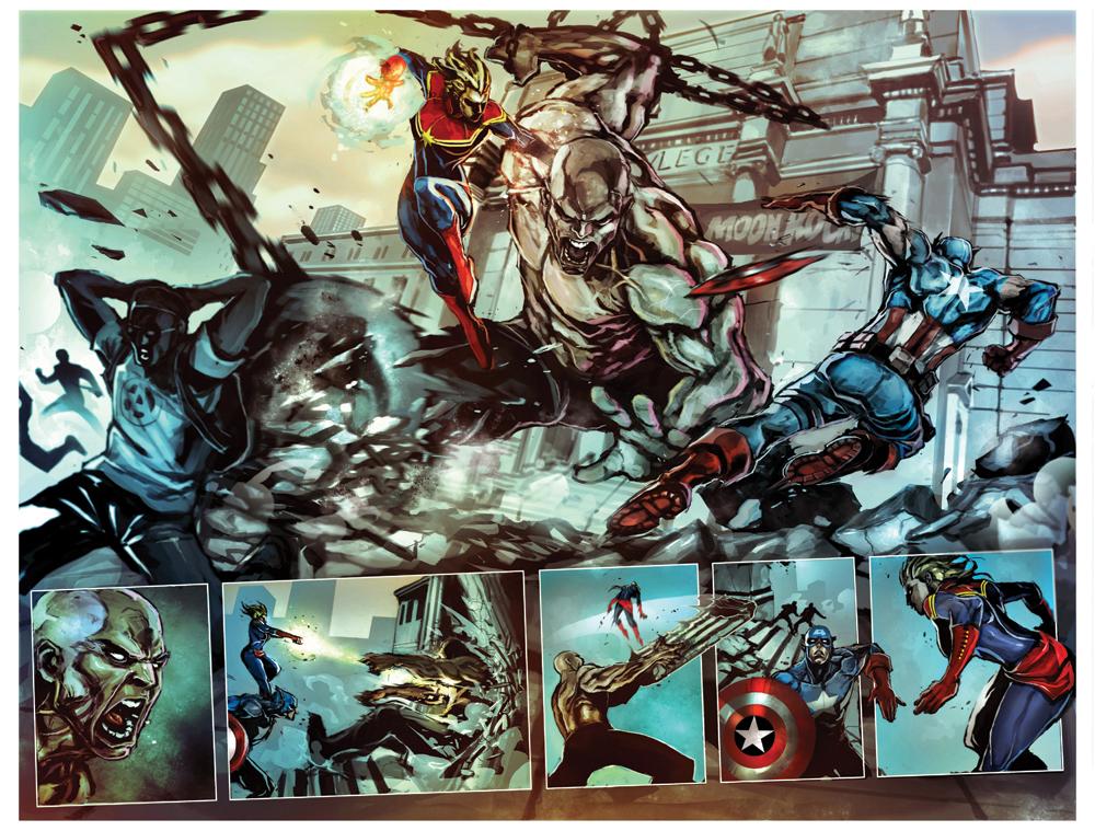 captain marvel #1 spread by nefar007