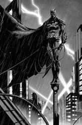 Batman pinup for Batman Black and White #1