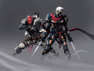 Red Ronin and Deathstroke