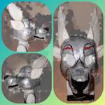 Haru the Chimare Fursuit Head WIP 1 by FreyaFarley