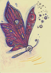 scetch of a butterfly clef hybrid