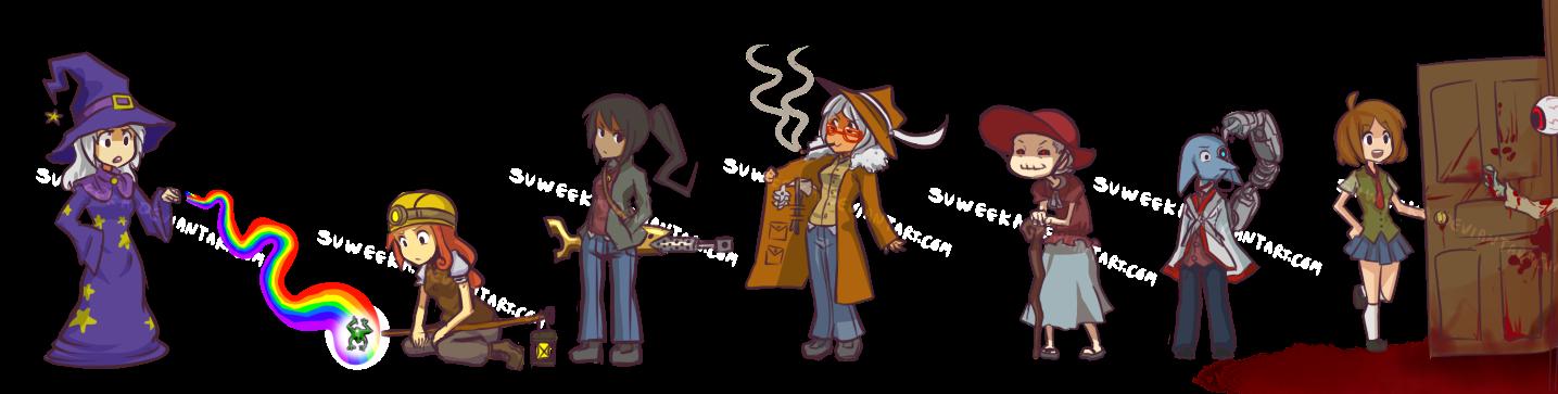 Anime Characters In Terraria : Terraria npc genderbending by suweeka on deviantart