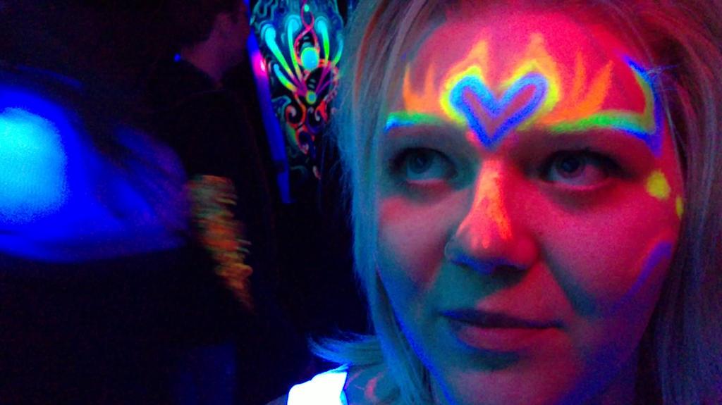 psychedelic face by splatterd on deviantart
