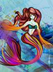 Psychedelic mermaid
