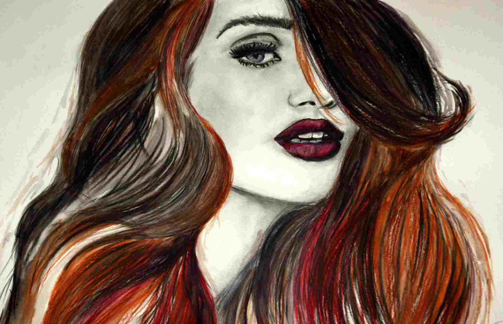 Girl with red hair by keat1905