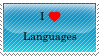 I love languages 4ever - Stamp