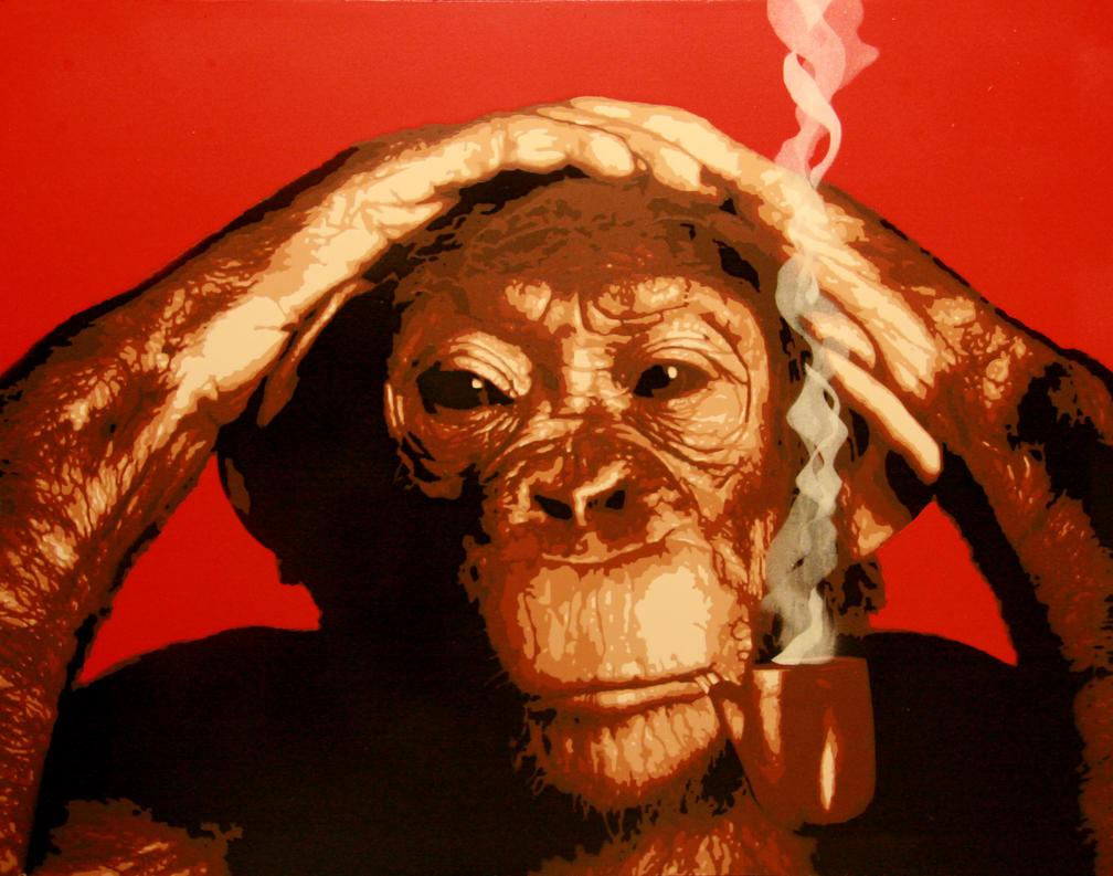 Old Chimp by kingstom