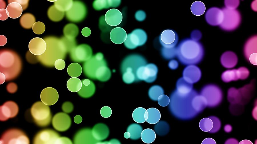 Rainbow Circles Wallpaper Rainbow Bokeh Circles