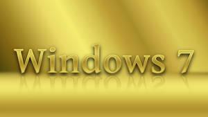 Golden Windows 7 Text Wallpaper
