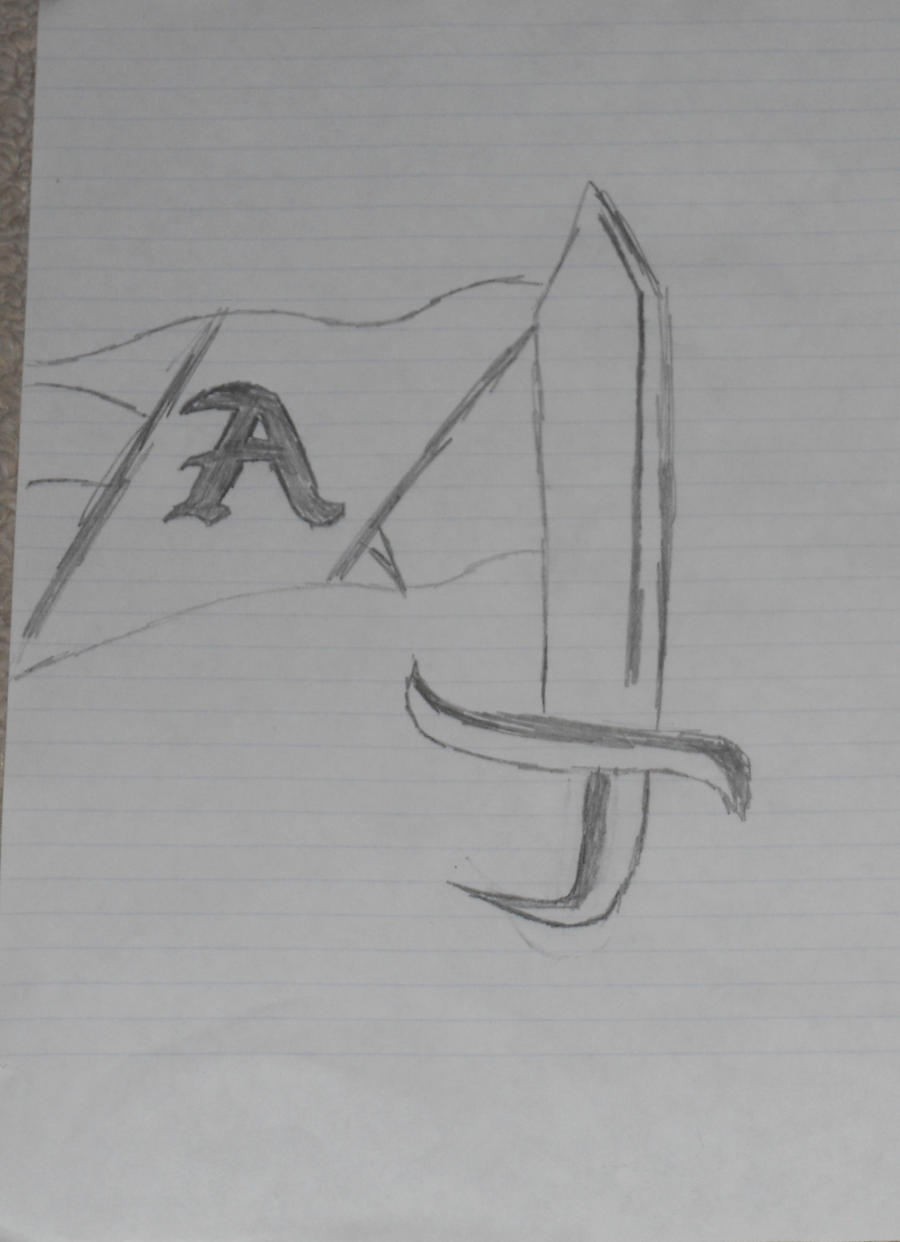 Sword Banner Drawing