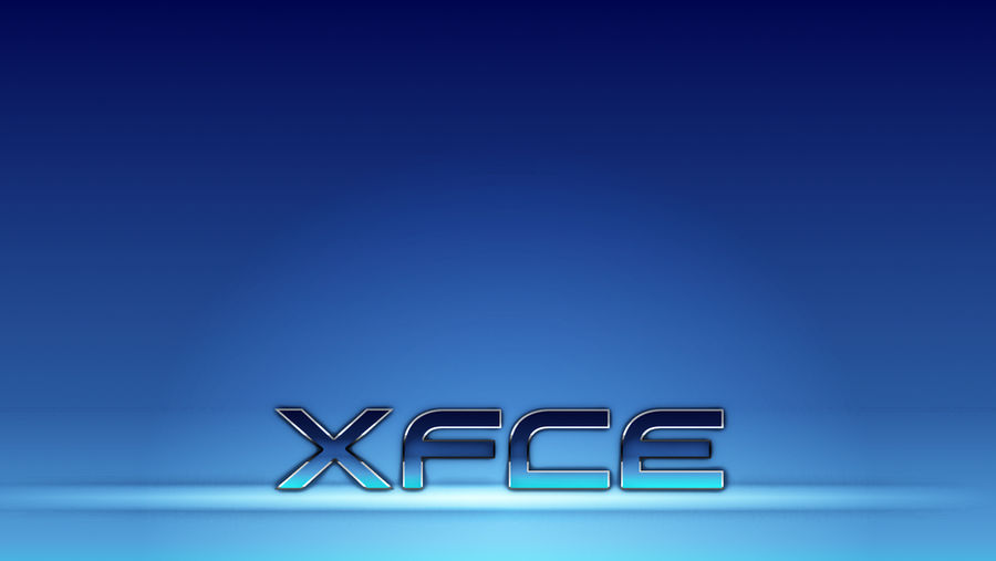 XFCE Blue Metallic Wallpaper