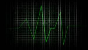Binary Heartbeat Wallpaper