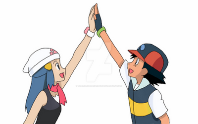 High Five ! by TrainerAshandRed35