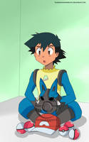 Ash Ketchum (Lucario Suit) by TrainerAshandRed35
