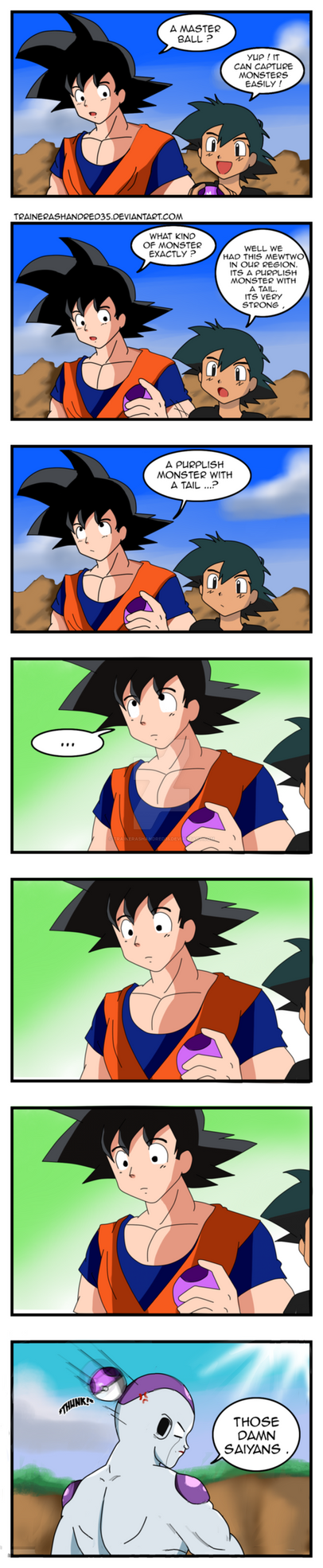 If Goku had A Master Ball by TrainerAshandRed35