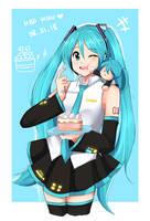 Happy 11th Birthday Miku! by TrainerAshandRed35