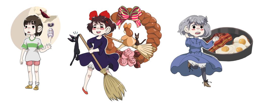 Ghibli Food Set (Part 1) by Teragrams