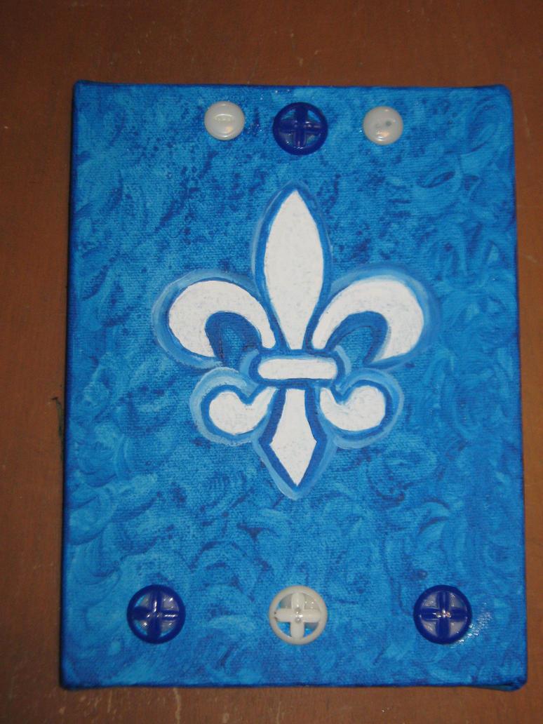 Art On Canvas -  Fleur De Lys 2 by Art-Excetera-ESQ