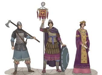 Byzantine Ladies by akitku