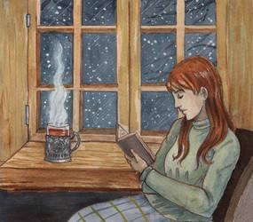 Katya reading