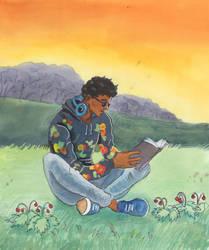 Shino reading by akitku