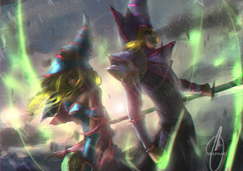 Dark Magician Girl and Dark Magician