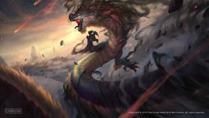 SMITE - Jormungandr The Mighty Storm Splash Art