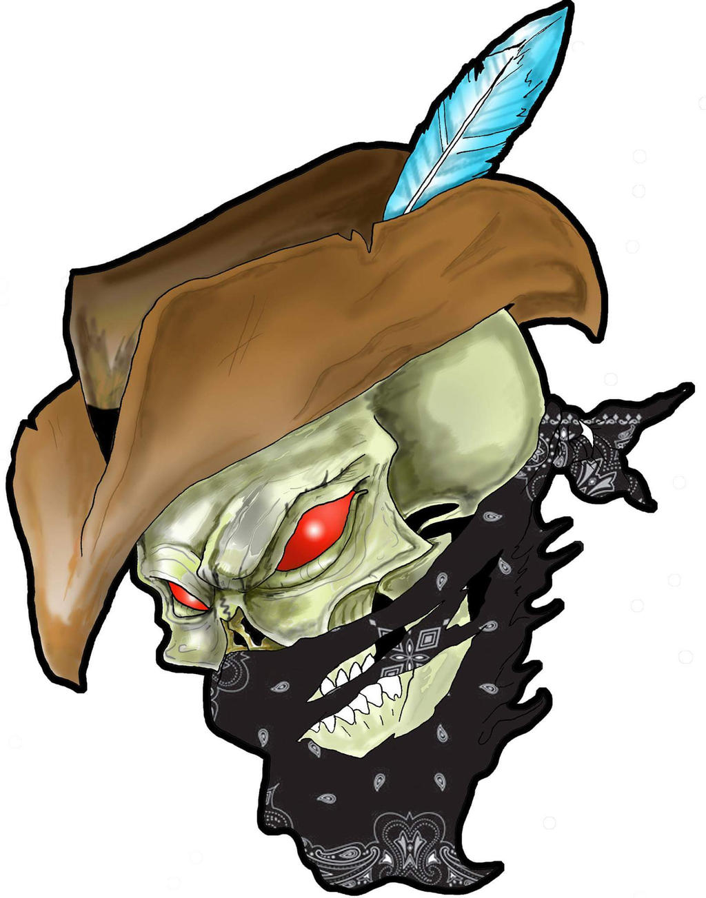Outlaw Cowboy Skull by DrSnakeEater on DeviantArt Outlaw Cowboy Skull