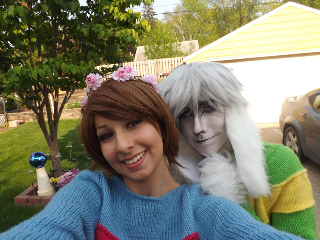 Asriel and Frisk from Undertale by boobleeboo