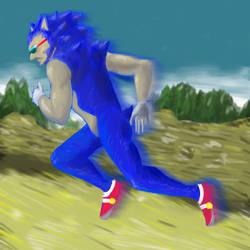 Sonic fan art by Scadan