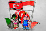 Flag Aceh n Indonesia