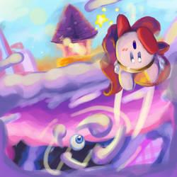 Kirby vs Kracko Jr. remake by 4zumarill